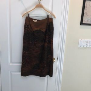 Brown Talbots skirt 10 Pettit